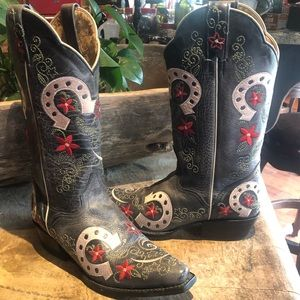 JB Dillon 'Lucky Horseshoe' Cowgirl Boots